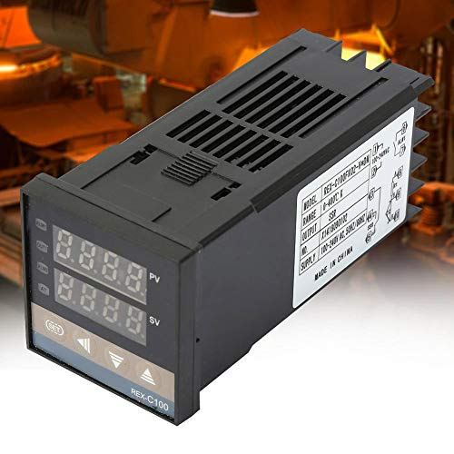 Kit de controlador de temperatura, termostato, REX-C100 AC 110-240V K-Type PID para termopar de disipador de calor