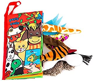 OYSTER-BABY Baby First Learning Book Animal's Tail Cloth Book Fabric Non-Toxic Safe eco-Friendy (Pet's Tails)