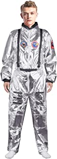 Adult Astronaut Costume for Men and Women, Spaceman Suit Jumpsuit for Halloween Cosplay Costume