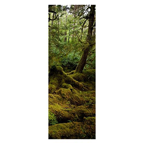 wandmotiv24 Türtapete Schöner Regenwald 70 x 200cm (B x H) - Papier Tapete, Tür-Aufkleber, Türbild, Wandbild M1049