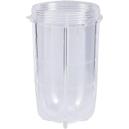 Pièces de rechange en plastique de tasse de presse-agrumes, accessoires de remplacement de tasse de mélangeur tasse haute ou courte transparente(Tall cup)