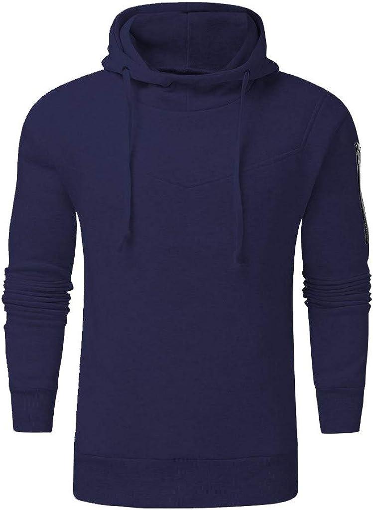 Bravetoshop Men's Winter Casual Zipper Utility Sweatshirt Tops Long Sleeve Outdoor Coat