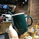Pareja Marca Taza De Agua De Cerámica Taza De Café Para El Hogar 420ml E
