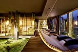 Tumbona doble de madera para jardín e interior