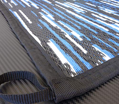 odooro Zeltteppich WAVETEX Platin 2,7m x 3m schwarz-blau *** 450 g/m² Outdoor Teppich Vorzelt Garten Spieldecke *** Viele Größen und Farben