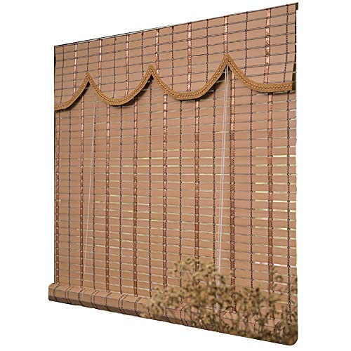 LiQi Roller Blind Outdoor Waterproof Roller Shade Blinds, Beige Patio Gazebo 90% Blackout Japanese-style Roller Shades with Rope, Weatherproof Sun Shade (Size : 100×220cm/39.4×86.6in)