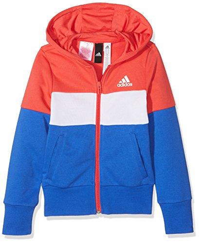 adidas Veste Sport ID unisexe pour enfant., Mixte enfant, Jacket, CF6664, Reacor/blanc/bleu cerf., 12 ans
