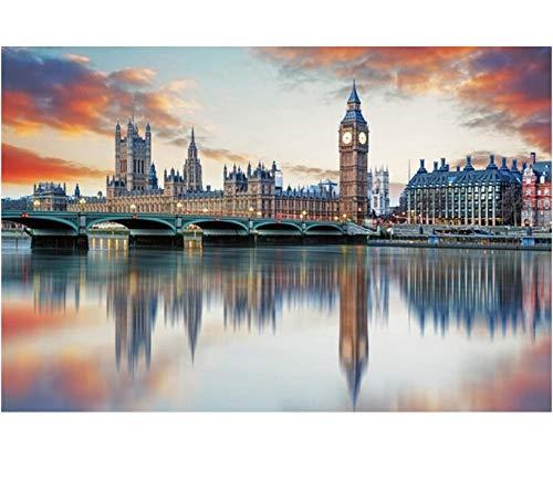 Bellissimi Puzzle di Londra 1000 Pezzi Puzzle in Legno per Adulti Brain Trainer Puzzle Giocattoli Famosi in Tutto Il Mondo