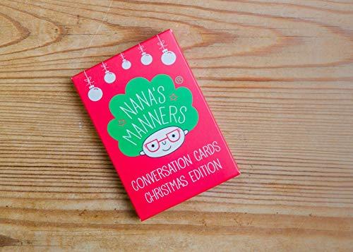 Nana's Manners Carte de Noël pour enfant Idéal pour la table de dîner ou les voyages en voiture