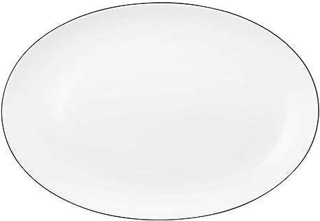 Seltmann Weiden Lido Black Line Servierplatte oval 35x34 cm 10826