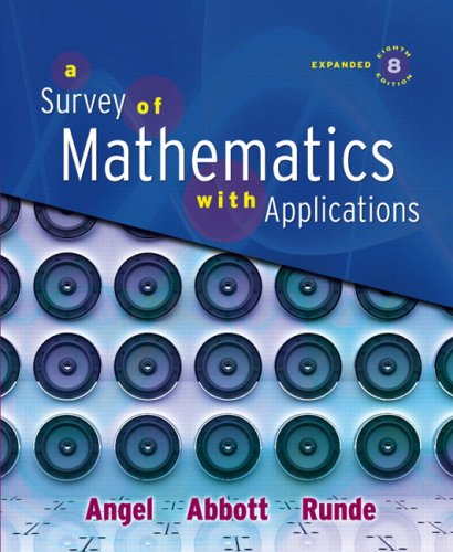 Survey of Mathematics with Applications, Expanded Edition Value Pack (includes MyMathLab/MyStatLab Student Access Kit  &