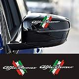 Personality DIY Decoration Car Sticker Decal Car Styling, for Alfa Romeo 159 147 156 Giulietta 146 166 GT 4C Mito Giulia Stelvio Car Accessories (13X6.5cm,White)