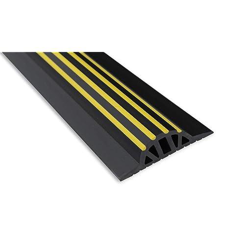 météo Stop Ws009–25221,1cm X 30mm Haute Seuil de porte de garage de joint d'étanchéité kit–Noir