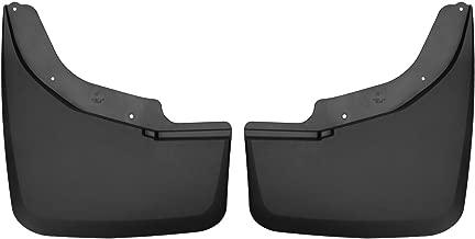 Husky Liners 57871 Black Custom Mud Guards Dually Rear Mud Guards Fits Chevrolet Silverado 3500, 2015-19 GMC Sierrra 3500-DUAL Wheels