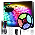 Bathebright LED Strip Lights 16.4ft RGB LED Light Strip with Remote Color Changing 5050 LED Rope Lights for Lighting Kitchen Bed Bar Home Decoration