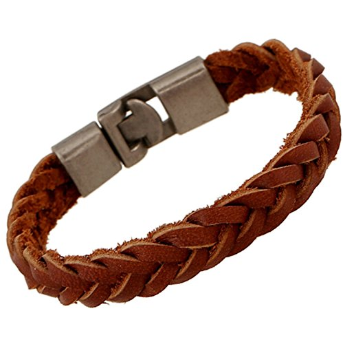 BeyDoDo Modeschmuck Herren Damen Armband Lederarmband PfeilHerrenarmband Damenarmband Lederarmbänder Braun