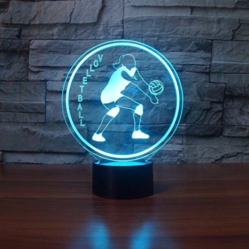JYHW Creatieve led-spelletjes volleybal modellering 3D kleurverloop nachtlampjes 7 kleuren veranderende bureaulamp wooncultuur licht beweging fans geschenken