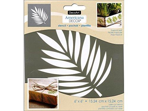 Deco Art Decads-k.107 Americana Décor Pochoir Tropical Feuille, 15,2 cm par 15,2 cm