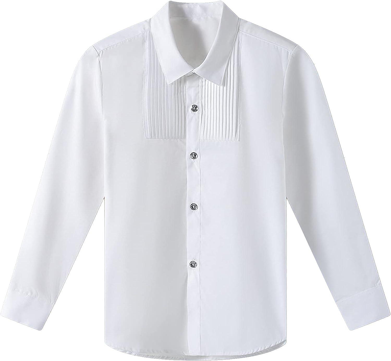 YiZYiF Kids Long Sleeve Button Down Plaid Shirt School Uniform Shirt for Boys Girls