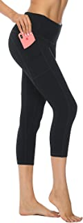 AFITNE High Waist Yoga Capri Leggings with Pockets Workout Running Yoga Pants