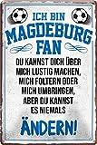 Blechschilder ICH BIN MAGDEBURG Fan Metallschild für