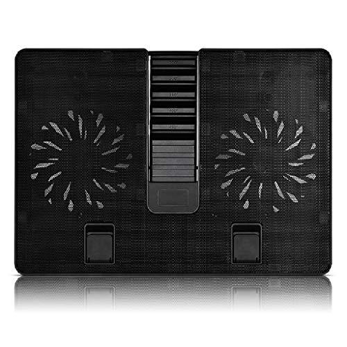 QIFFIY Base Portatil Base Refrigeradora Laptop Cooling Pad 2 Los Aficionados X140mm hasta 17,3 Pulgadas Pesada refrigerador portátil Incorporado en una Interfaz USB3.0 Laptop Stand Ajustable