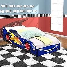 Cama Carro 96 Infantil com Colchão D20 - Royal/Branco - RPM Móveis