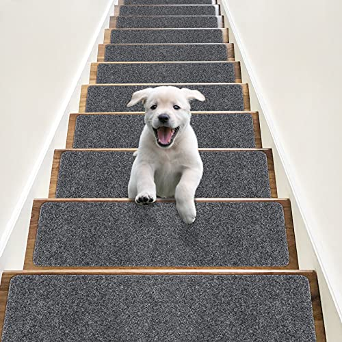 RIOLAND Non-Slip Stair Treads Carpet Indoor 14...