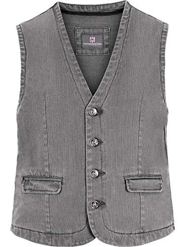 Jan Vanderstorm – Gilet da uomo Torell in taglie forti. Grandi dimensioni in cotone di buona qualità.  grigio. 62