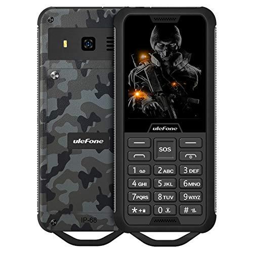 Teléfono móvil Ulefone Armor Mini 2 sin Contrato, Clase de protección IP68, batería de 2100 mAh, 32 MB de ROM y RAM, Doble SIM, Soporte máximo para Tarjeta TF de 32 GB, (Camuflaje)