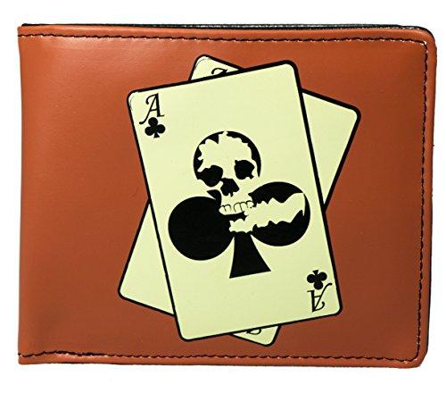 Shagwear - Monederos para Mujeres jóvenes diseños: (Cráneo Poker/Skull Poker)