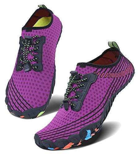 JointlyCreating Men Women Water Shoes Quick Dry Adult Beach Swim Barefoot Lightweight Water Shoes