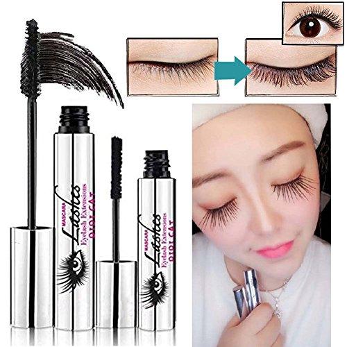 Symeas 4D Mascara Crème Maquillage Lash Mascara Imperméable à L'eau Noir Cils Extension Extension Fibre Extrêmement Long Mascara Lavable à L'eau Chaude