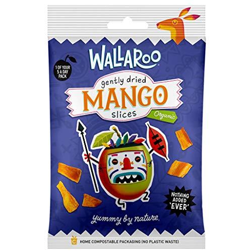 WALLAROO Mangue séchée en tranches biologique, sans sucre ni sulfite   snacks végétaliens   10 sachets de 30g