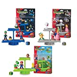 EPOCH Games Super Mario Balancing Game Bundle, 3 Tabletop Action Games for Ages 4+ with 12 Collectible Super Mario Action Figures
