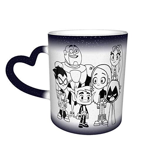 Hdadwy Te_en Ti-ta_n.s Go Magic Coffee Taza sensible al calor que cambia de color Perfect Educational/Science/Fun Cool Christmas Birthday Mug Gift