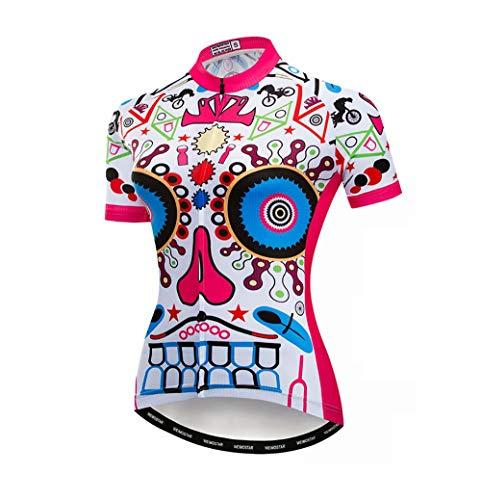 Ademende fietsshirt voor dames, vrouwen mountainbike-shirts en 3D-gel-pad-shorts voor het rijden in de open lucht.