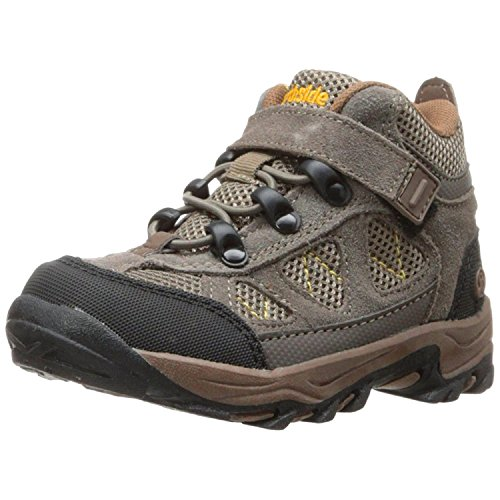 Northside Caldera Junior Hiking Boot Stone/Yellow, 7 M US Big Kid