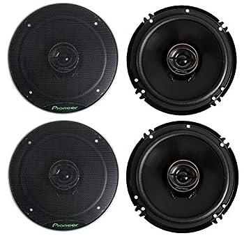 Pioneer TS-G1645R 2-Way 6-1/2  500 Watt Car Audio Coaxial Speaker  2 Pairs  6.5