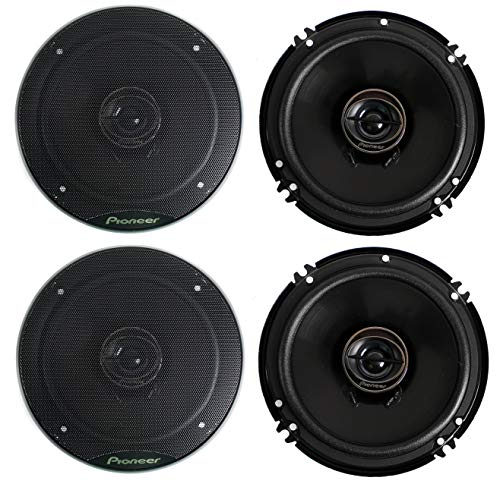 Pioneer TS-G1645R 2-Way 6-1/2' 500 Watt Car Audio Coaxial Speaker (2 Pairs) 6.5'