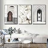 Leinwand Wandkunst Poster Marokko Alte Tür Moschee