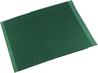 chiwanji 柔らか アートペーパー セット カラフル 絵画用紙 DIY サンドペーパー 塗装 絵画 手芸用 紙 全5色 - 深緑