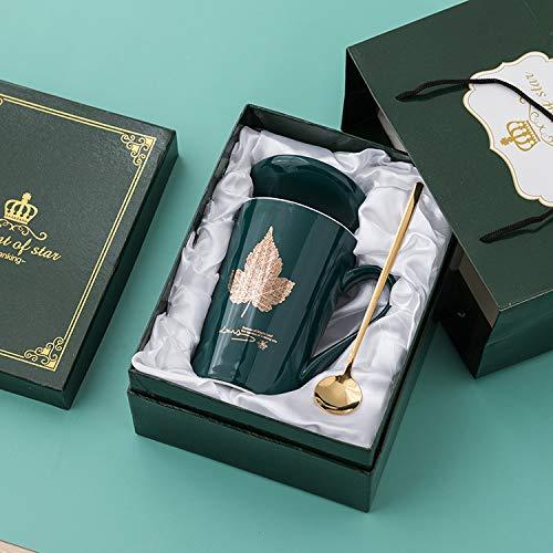 Xiaobing Taza de Moda para Hombres y Mujeres, Taza de cerámica con Personalidad, Taza de Gran Capacidad para Parejas, Taza de café -C410-401-500ml