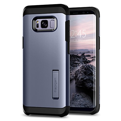 Spigen Coque Galaxy S8, Coque S8 [Tough Armor] Heavy Duty [Orchidée] Protection Extreme/Coque Robuste mais Fine Double Couche, Coque Compatible avec Samsung S8