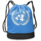 PmseK Mochila con Cordón,Bolsas de Gimnasia, Flag of The United Nations Multifunctional Bundle Backpack Shoulder Bag For Men and Women