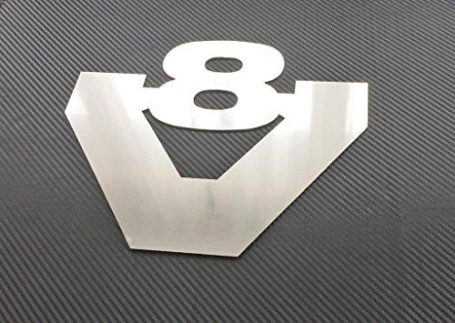 1x Edelstahl Plakette für Scania Trucks V8poliert Dekoration Zubehör