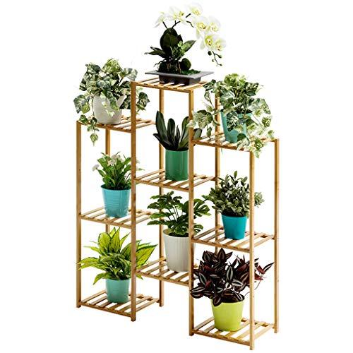 CHINESS PflanzenstäNder, Retro, Holz-Blumentopf-StäNder, Mehrschichtig Beweglich, Innen- Und AußEnbereich, Wohnzimmer