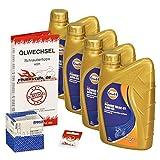 Gulf 10W-40 Öl + Mahle Ölfilter für Honda XL 1000 V Varadero, 99-02, SD01 SD02 - Ölwechselset inkl. Motoröl, Filter, Dichtring
