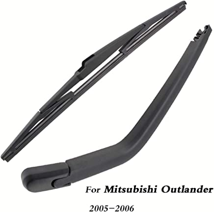 SLONGK Escobillas del Limpiaparabrisas Trasero del Coche Volver Parabrisas Brazo del Limpiaparabrisas, para Mitsubishi Outlander