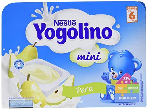 Nestlé Postre Lácteo Mini con Pera para Bebés A Partir de 6 Meses, 6 x 60g